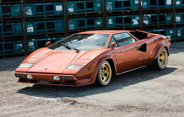 Picture Orange, Supercar, Lamborghini Countach, 1974, Classic Car