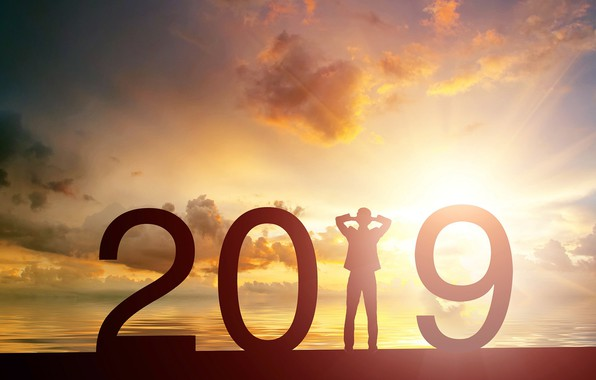 Picture the sun, background, New year, New Year, 2019