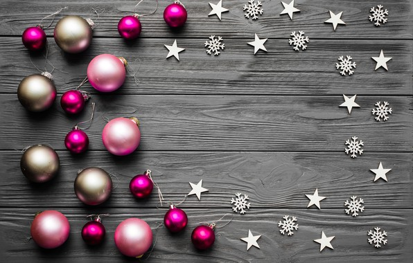 Picture decoration, balls, New Year, Christmas, Christmas, balls, wood, New Year, decoration, Merry