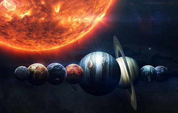 Picture The sun, Saturn, The moon, Space, Star, Earth, Planet, Moon, Mars, Jupiter, Neptune, Mercury, Venus, …