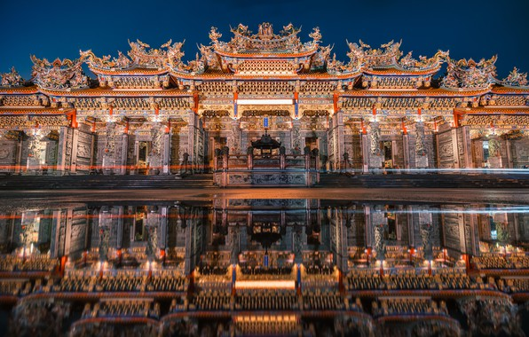 Picture Night, Reflection, Bamboo Forest Temple