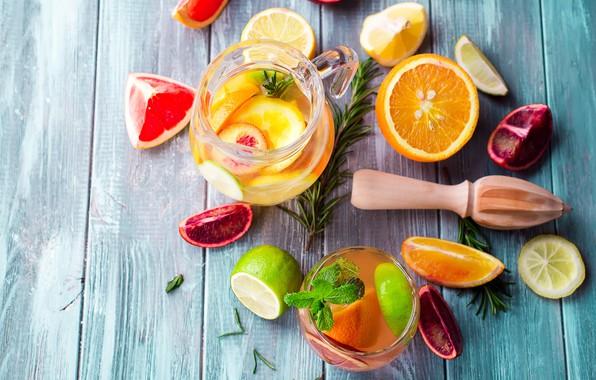 Picture orange, lime, mint, lemonade, rosemary