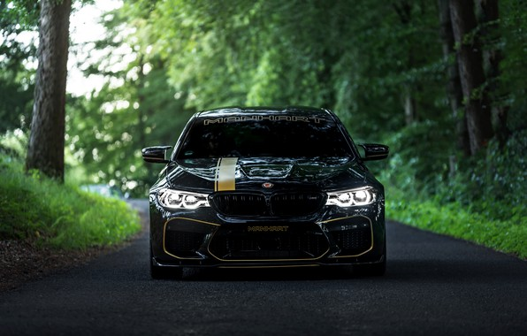 Picture BMW, 2018, Biturbo, Manhart, forest road, M5, V8, F90, 4.4 L., 723 HP, MH5 700