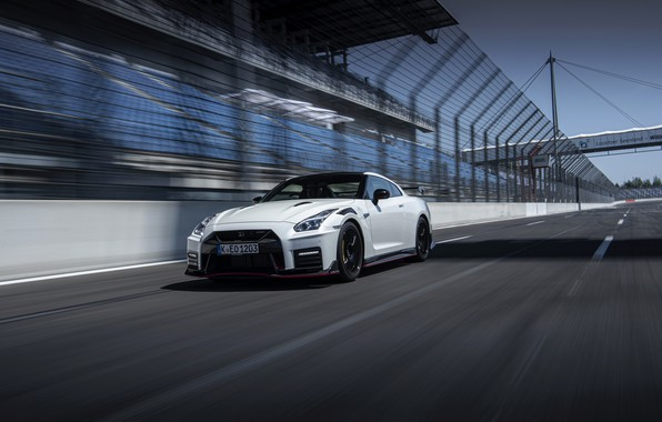 Picture white, Nissan, GT-R, R35, Nismo, 2020, 2019, starting video