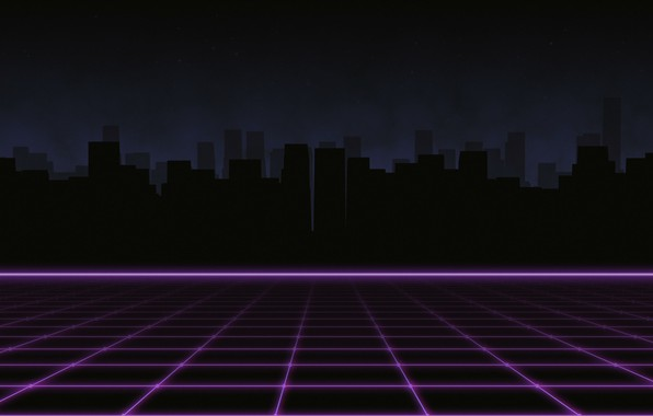 Picture Music, The city, Silhouette, Background, 80s, Neon, 80's, Synth, Retrowave, Synthwave, New Retro Wave, Futuresynth, …