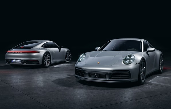 Picture Auto, Porsche, Machine, Grey, Porsche 911, Transport & Vehicles, Porsche 911 Carrera 4S, by the ...