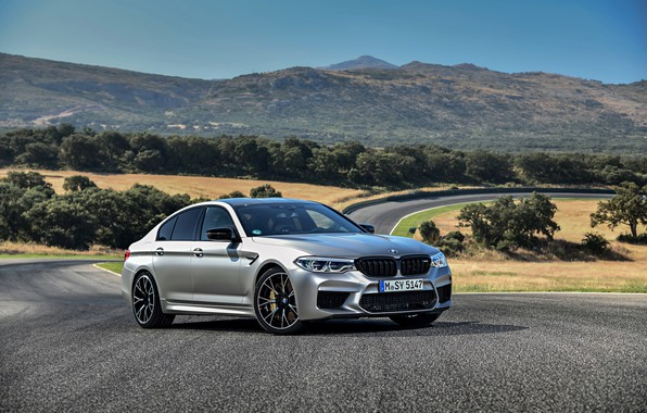 Picture grey, BMW, sedan, 4x4, 2018, Speedway, four-door, M5, V8, F90, M5 Competition