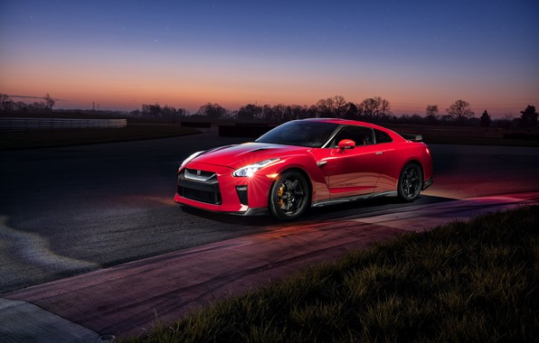 Picture the evening, GTR, supercar, Nissan, GT-R, Track Edition, 2017