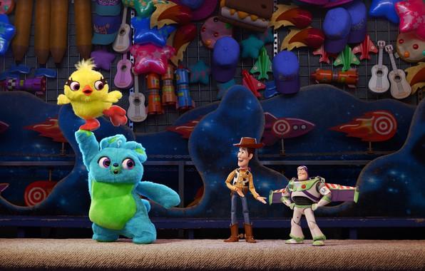 Picture animation, cartoon, movie, toys, film, Toy Story, Buzz Lightyear, Sheriff Woody, plush, Toy Story 4