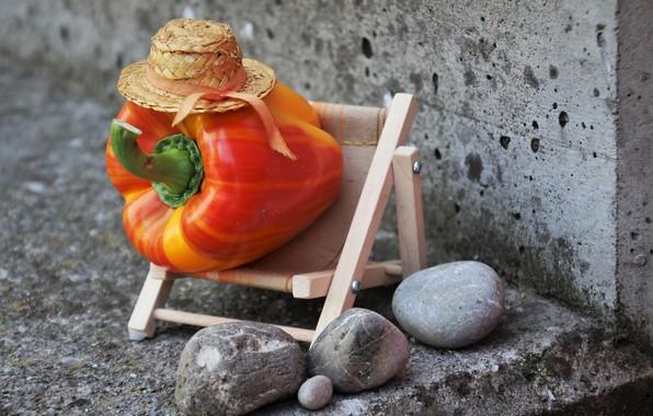 Picture pepper, pebbles, joke