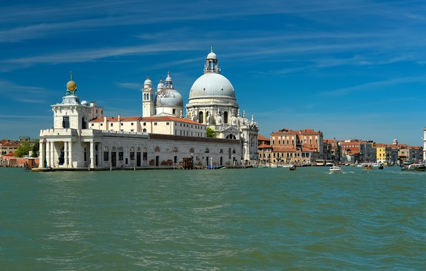 Picture photo, Home, The city, Italy, Venice, Temple, Water channel