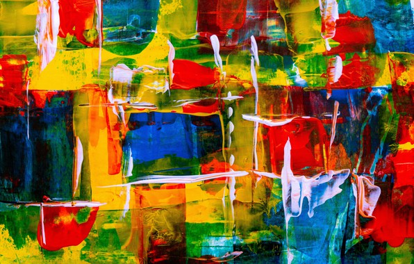 Picture line, abstraction, paint, colorful, brush strokes, color texture