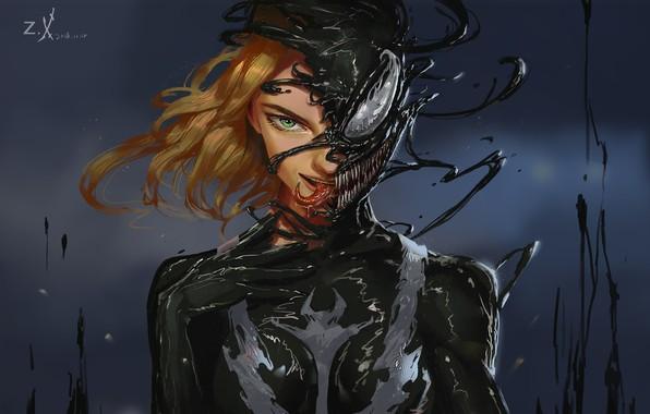 Picture Girl, Language, Teeth, Art, Comics, MARVEL, Concept Art, Venom, Venom, Symbiote, MARVEL Comics, Comic Art, …