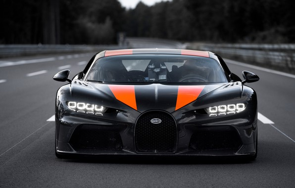 Picture asphalt, strip, Bugatti, hypercar, Chiron, Super Sport 300+