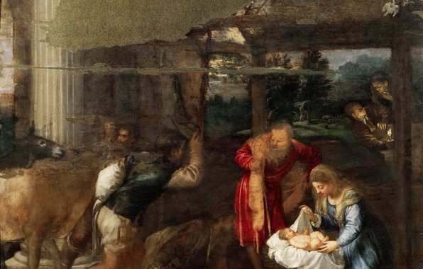 Picture donkey, Titian, Christmas