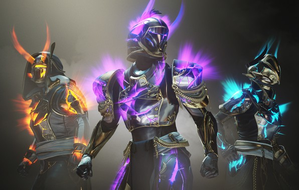 Picture Armor, Glow, Hunter, Bungie, The warlock, Titan, Destiny, 2020, Arrival, Destiny 2, Solstice Characters, Solstice
