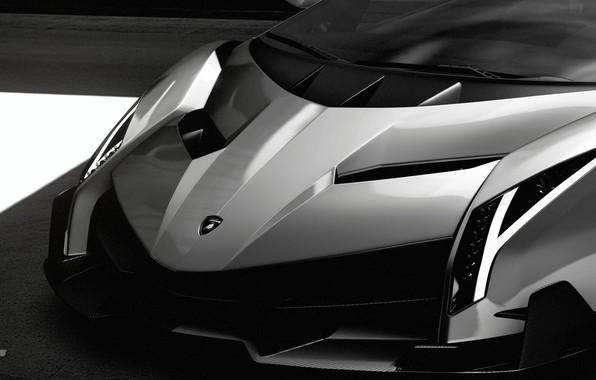 Picture Auto, Minimalism, Machine, Lights, Lambo, Hypercar, Black And White, Veneno, Gran Turismo Sport, Lamboghini, Lamba