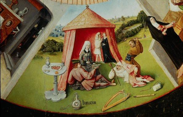 Picture tent, Hieronymus Bosch, Fornication
