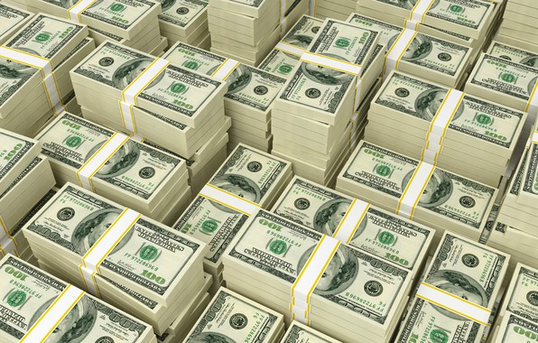 Picture money, dollar, bills, packs, dollar, banknotes, currency, banknotes
