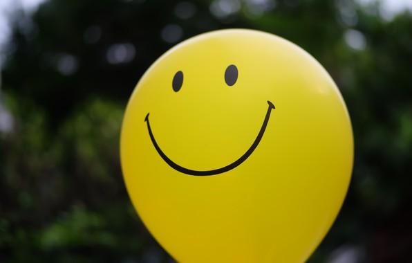 Picture yellow, balloon, ball, smile, happy, yellow, smile, balloon