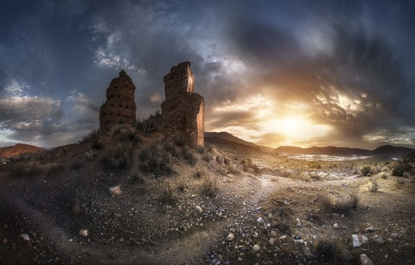 Picture Andalusia, Almeria, Beat, Ruins of the Citadel of Berja, Tower of the Spur