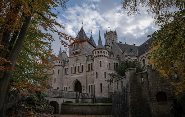 Picture autumn, trees, bridge, castle, Germany, architecture, Germany, Marienburg Castle, Lower Saxony, Lower Saxony, Marienburg Castle