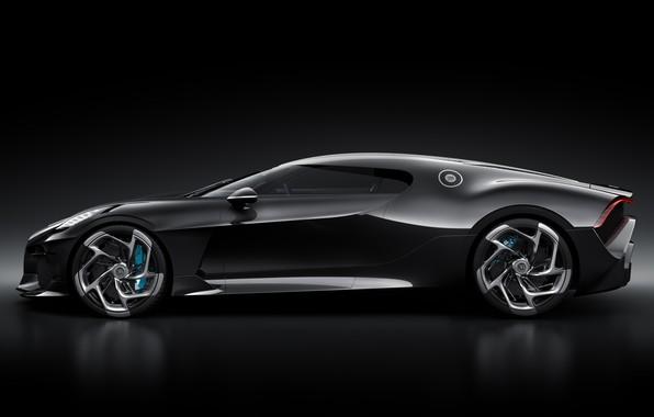 Picture machine, Bugatti, drives, stylish, hypercar, The Black Car