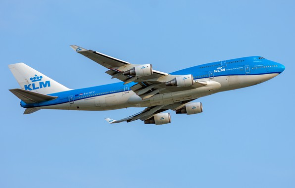 Picture Boeing, KLM, Royal Dutch Airlines, 747-400M