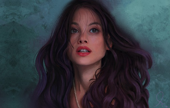 Picture girl, portrait, art, Mandy Jurgens, Portrait of Astrid Berges Frisbey