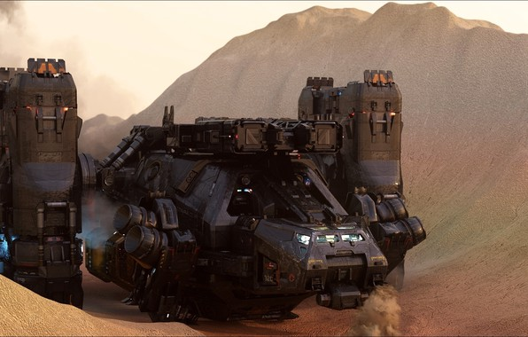 Picture fantastic, Mars, other technics