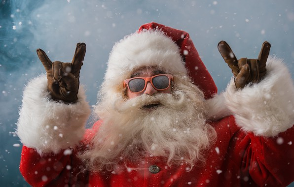 Picture winter, snow, New Year, glasses, Christmas, Santa Claus, happy, Santa Claus, Christmas, winter, snow, Merry ...