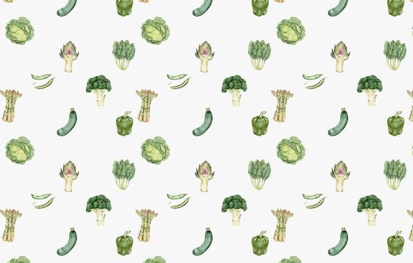 Photo wallpaper white, background, texture, vegetables