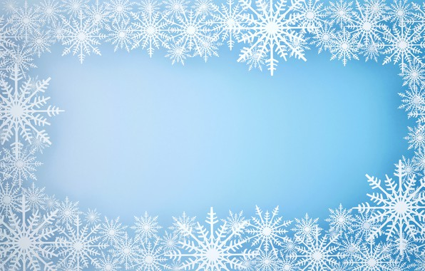 Picture winter, snow, snowflakes, background, frame, Christmas, blue, winter, background, snow, snowflakes, frame