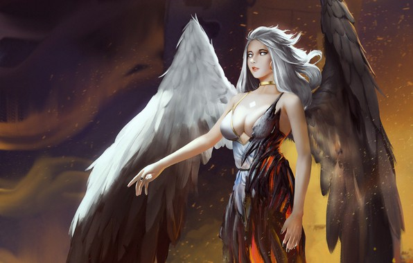 Picture Girl, Figure, Angel, Wings, Art, Art, Angel, Illustration, Eva, Phuc Pham Posted, by Phúc Phạm …