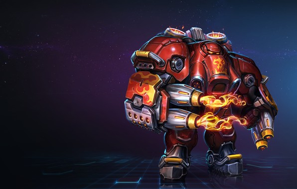 Picture Fire, Fire, Blizzard, Art, Starcraft, Marauder, Character, Heroes of the Storm, Marauder, Oscar Vega, Firebat …