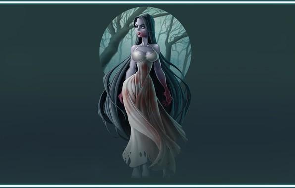 Picture Girl, Figure, art, Ghost, Legend, illustration, Myth, JOSE RODRIGUEZ MOTA, SAYONA, by JOSE RODRIGUEZ MOTA, …