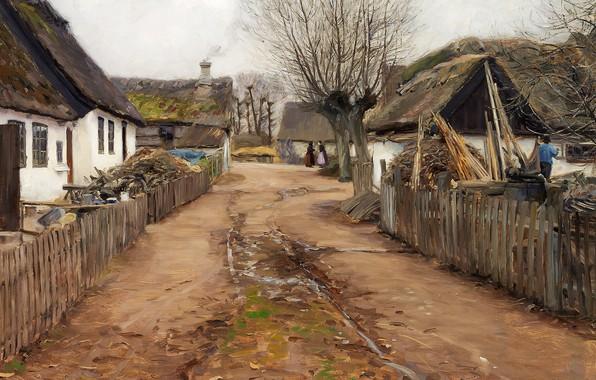 Picture 1911, Danish painter, Danish realist painter, Hans Andersen Brendekilde, Hans Andersen Brendekilde, oil on canvas, …