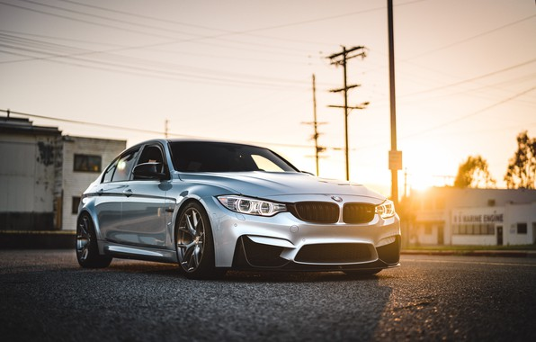 Picture BMW, Light, Sunset, Silver, F80, Sight, LED