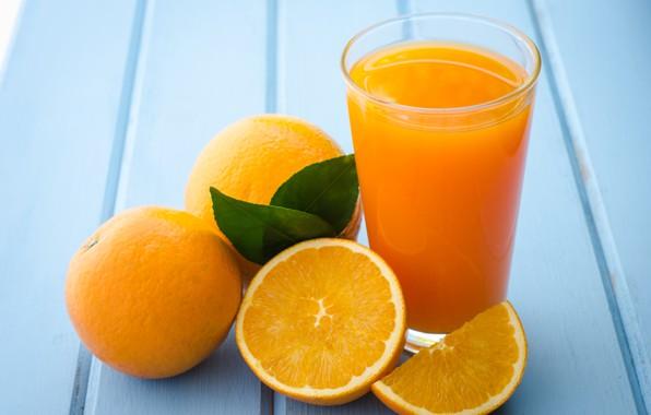 Picture leaves, background, orange, juice, citrus