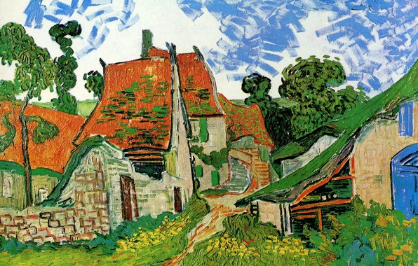 Picture stage, Vincent van Gogh, Village Street, in Auvers