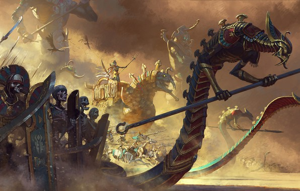 Picture Total War, Warhammer II, Turn-based strategy, the game is in a mixed genre