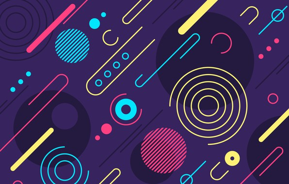 Picture abstraction, texture, colorful, Abstract, background, rounded, shapes
