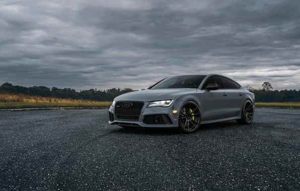 Picture Audi, Light, Evening, VAG, RS7, Sight, Graphite, LED