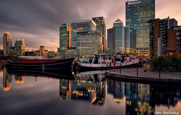 Picture the city, building, Marina, ships, boats, the evening