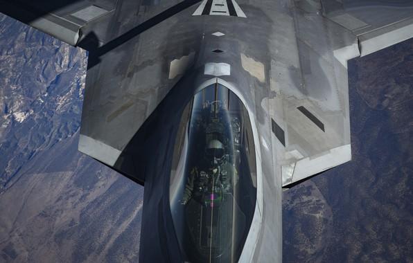 Picture USAF, Pilot, F-22 Raptor, Cockpit