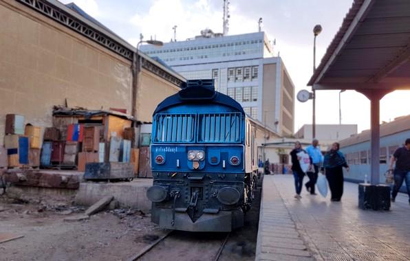Picture Egypt, Train, Clean, class, Locomotive, Train station, elsa3dany1, Blue Locomotive, Egyptian Railways, EMD Class 66, …