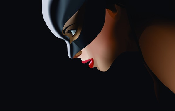Picture Minimalism, Figure, Costume, Background, Latex, Comic, Art, Art, Cat woman, Comics, DC Comics, Catwoman, Characters, …