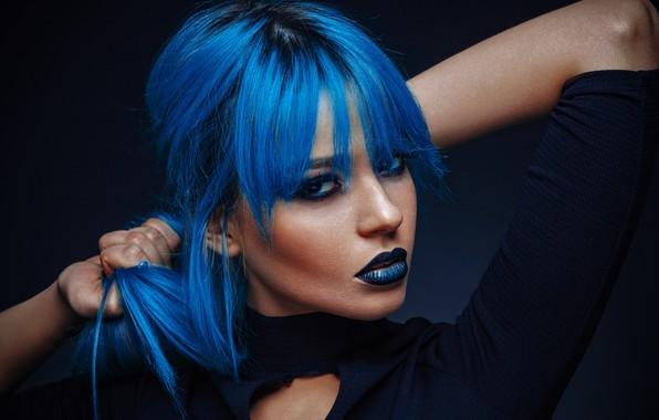 Picture blue hair, last kiss, model XS, пусть будет мальвина, сумашедший цвет волос, стоп синьке, crazy …