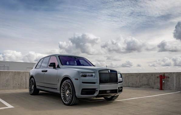 Picture Rolls Royce, Sky, SUV, Luxury, Vossen, Graphite, Cullinan