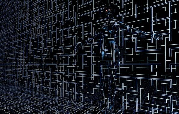 Picture the dark background, computer graphics, dark background, computer graphics, transparent shape, прозрачная фигура